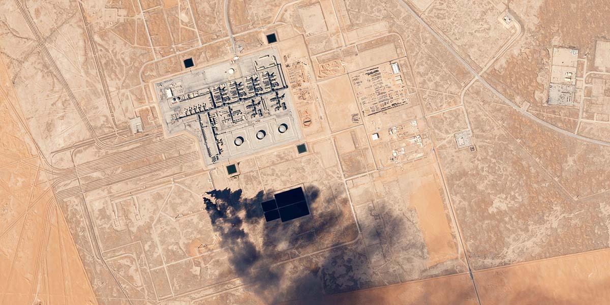 Mapa de la refinería de producción petrolera